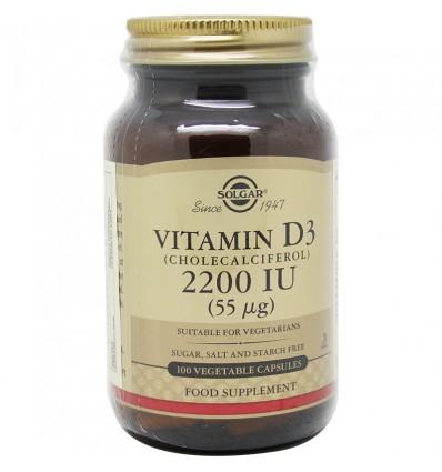Solgar Vitamina D3 2200UI 100 Capsulas