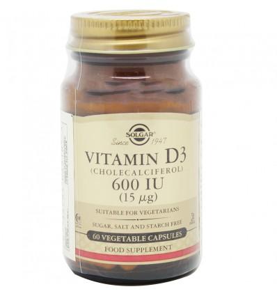 Solgar Vitamina D3 600UI 60 Capsulas