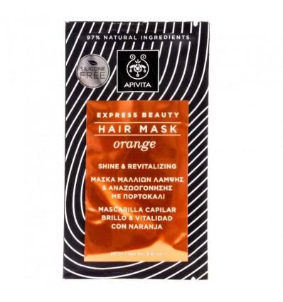 Apivita Express Hair Mask Brightness Vitality 20 ml Orange