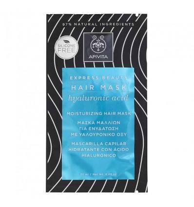 Apivita Express Mascarilla Capilar Hidratante 20 ml Acido Hialuronico
