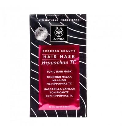 Apivita Express-Haar-Maske ist eine Belebende, 20 ml Hippophae