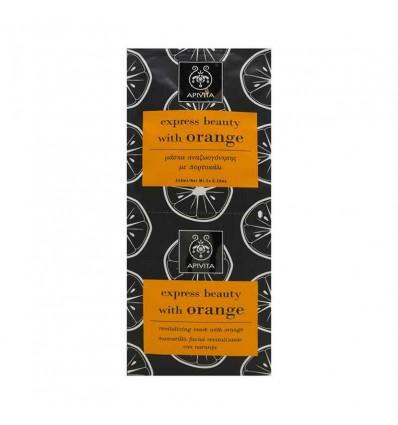 Apivita Express Mascarilla Facial Iluminadora Naranja 2x8ml