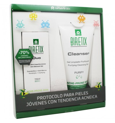 Biretix Duo Gel Antiimperfecciones 30 ml Pack Cleanser Regalo