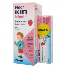 Fluorkin Infantil Anticaries Colutorio 500 ml Pasta infantil 50 ml regalo