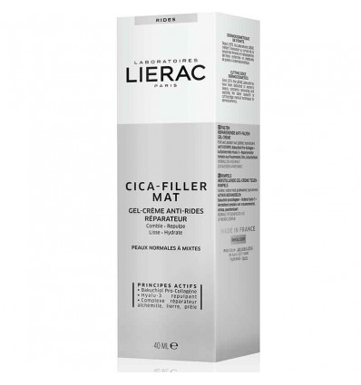 Lierac Cica-filler Mat Gel Crema Antiarrugas Reparadora 40 ml