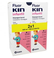 Fluorkin Infantil Enjuague Bucal Duplo 500 ml