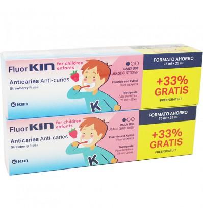Fluorkin Infantil Anticaries Pasta Dental 100 ml Duplo