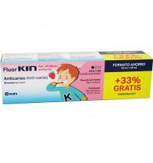 Fluorkin Infantil Anticaries Creme Dental 75 ml presente 25ml
