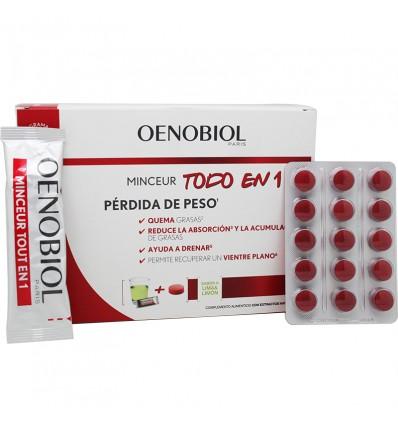 Oenobiol Minceur Perdida de peso Todo en 1 Programa 1 Mes