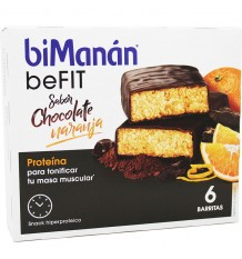 Bimanan Befit Barrita Chocolate Naranja 6 Unidades oferta