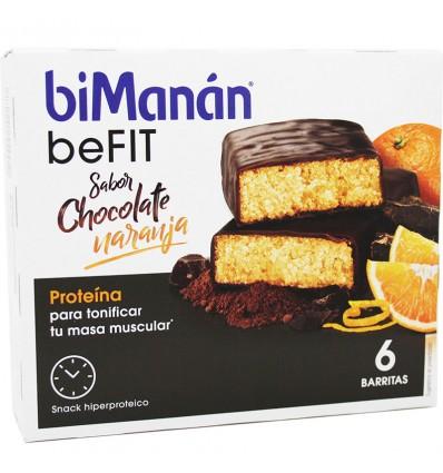 Bimanan Befit Barra De Chocolate Laranja 6 Unidades