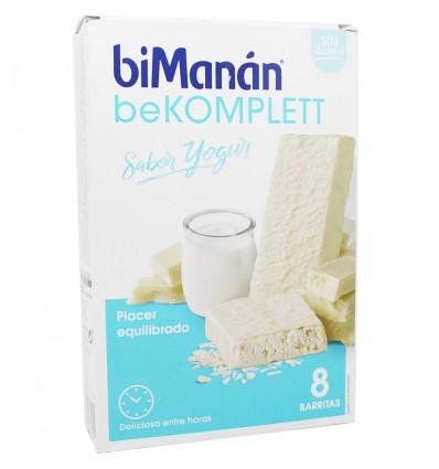 Bimanan Bekomplett Barras iogurte 8 unidades