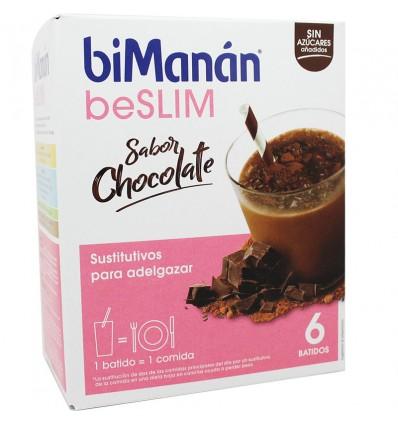 Bimanan Beslim Shakes de Chocolate 6 unidades