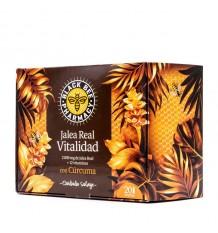 Black Bee Jalea Real Vitalidad Curcuma 20 Ampollas