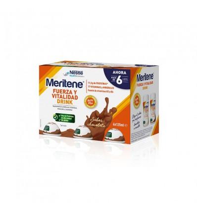 Meritene Drink Chocolate 125ml 6 Unidades
