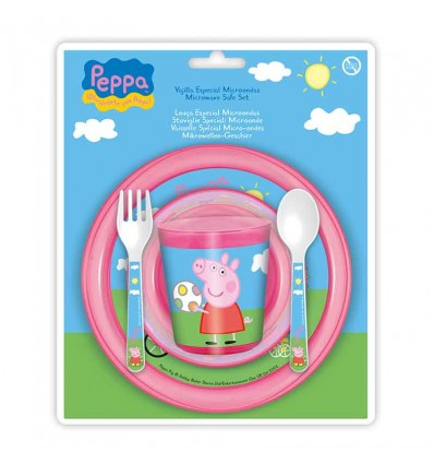Vajiilla Completa Disney 5 Piezas Microondas Peppa pig