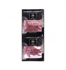 Apivita Express Mascarilla Facial Limpieza Suave Arcilla Rosa Suave 2x8ml