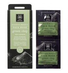 Apivita Express Facial Mask Deep Cleansing Green Clay 2x8ml