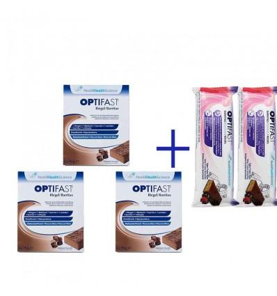 Optifast Barritas Chocolate Triplo 18 unidades