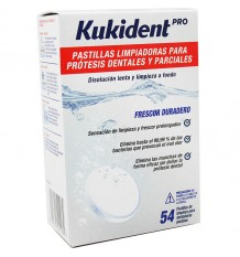 Kukident Pro Pastillas Limpiadoras 54 Unidades
