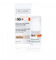 Bella Aurora Cc Crème Spf50+ Tonalité Moyenne de 30 ml