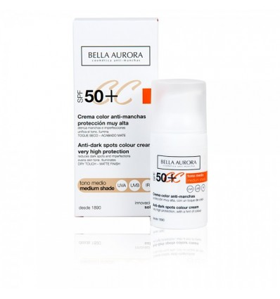 Bella Aurora Cc Cream Spf50+ Tono Medio 30 ml