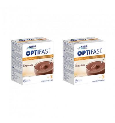 Optifast De La Crème Pâtissière Au Chocolat, 16 Enveloppes Duplo