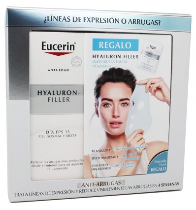 Eucerin Hyaluron Filler Fluido Fps 15 50 ml Mascarilla Facial Regalo