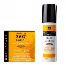 Heliocare 360 Color Gel Oil Free Bronze Intense Cushion Bronze Intense Pack