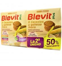 Blevit Plus 8 Cereais, Bolacha Maria Duplo 2x600 gramas