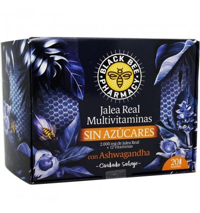 Black Bee Jalea Real Multivitaminas Sin Azucares Ashwagandha 20 Ampollas