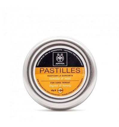 Apivita Pastillas Tomillo y Miel 45 g