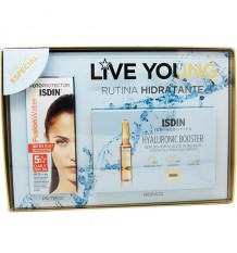 Sunscreen Isdin 50 Fusion Water 50 ml + 5 Ampoules Hyaluronic Booster