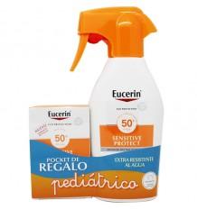 Eucerin Solar 50+ Spray 300 ml+ Solar Tasche Geschenk