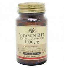 Solgar Vitamina B12 1000µg 100 Compimidos maioria dos animais
