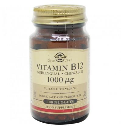 Solgar Vitamina B12 1000µg 100 Compimidos Sublinguales