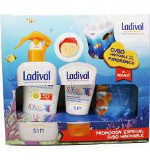 Ladival Crianças 50 Spray 200 ml + Creme de leite 50 ml Cubo Insuflável