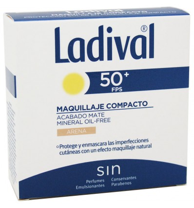 Ladival 50 Oil Free Compacto Areia 10g