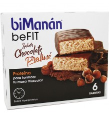 Bimanan Befit Barritas Chocolate Praline 6 Unidades
