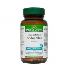 Nature's Bounty Mega Acidophilus Pectina 100 Capsulas