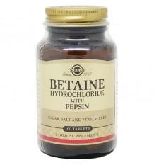 Betaina Solgar Cloridrato Pepsina 100 Comprimidos