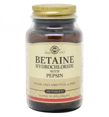 Solgar Chlorhydrate De Bétaïne Avec De La Pepsine 100 Comprimés