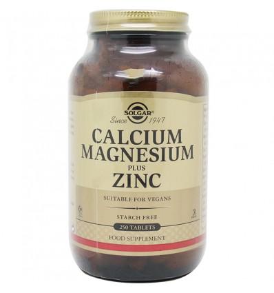 Solgar Calcio Magnesio Plus Zinc 250 Comprimidos