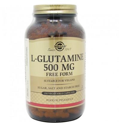 L-Glutamina Solgar 500mg 250 Capsulas