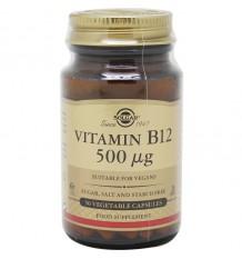 Solgar Vitamine B12 500 microg Cyanocobalamine 50 Capsules