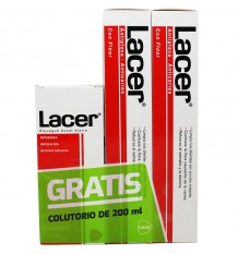 Lacer Dentifrice 125 ml Duplo + Rince-bouche de 200 ml