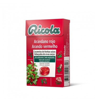 Ricola Candy Cranberry Red Box 50g