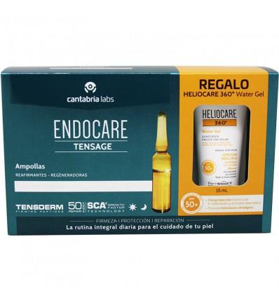 Endocare Tensage Ampollas 20 Unidades + Heliocare Water gel 15 ml