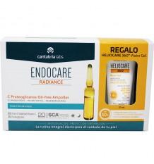 Endocare Radiance C Proteoglykane Oil Free 30 Ampullen + Heliocare Wasser-gel-15 ml