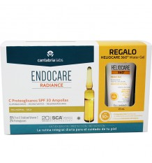Endocare Radiance C Protéoglycanes Spf30 30 Ampoules + Heliocare de l'Eau gel 15 ml